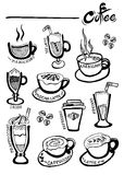 Coffee doodles Royalty Free Stock Photography