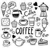 Coffee Doodles - Hand Drawn Illustrations Stock Photos