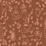 Coffee doodling Royalty Free Stock Photography