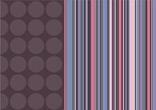 Coffee dots and candy stripes Royalty Free Stock Image