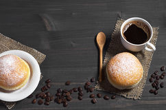 Coffee and doughnut Royalty Free Stock Images