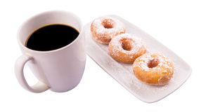 Coffee And Doughnut I Royalty Free Stock Photos