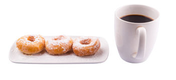 Coffee And Doughnut III Stock Images