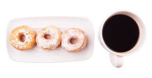 Coffee And Doughnut IV Royalty Free Stock Photos