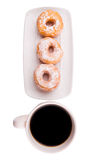 Coffee And Doughnut IX Stock Photos