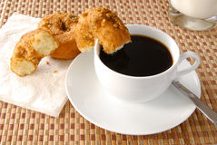 Coffee and doughnuts Royalty Free Stock Photography