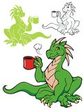 Coffee Dragon Stock Images