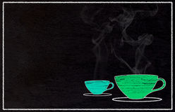 Coffee Drawing Background Stock Images