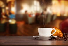 Coffee drink in cafeteria Royalty Free Stock Image
