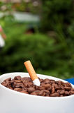 Coffee drink and cigarettes Stock Images