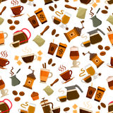 Coffee drink and cocktail seamless pattern Stock Photos