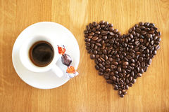 Coffee drink cup espressoo aroma caffeine hot, it`s coffee o`clock,I Love Coffe,Good Morning,people drink coffee Stock Photo