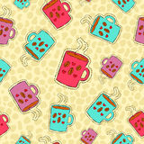 Coffee drink hand drawn patch icon background Royalty Free Stock Images