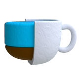 Coffee drink in plasticine or clay style Stock Image