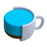 Coffee drink in plasticine or clay style Royalty Free Stock Photos