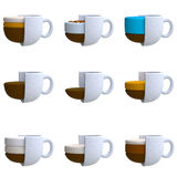 Coffee drink in plasticine or clay style Stock Photos
