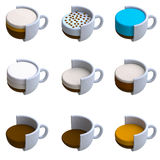 Coffee drink in plasticine or clay style Stock Images