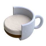 Coffee drink in plasticine or clay style. Stock Photo