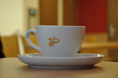 Coffee. Drinking coffee in the Caf Royalty Free Stock Image