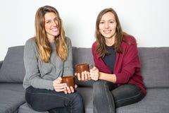 coffee drinking home women Στοκ φωτογραφίες με δικαίωμα ελεύθερης χρήσης