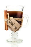 Coffee drinks with cinnamon sticks Stock Images