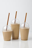 Coffee Drinks Mockup with background. 3 size Royalty Free Stock Photos