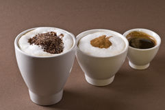 Coffee drinks objects Royalty Free Stock Image