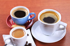 Coffee drinks Stock Photography