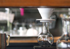 Coffee Drip setup. For Coffee Drip setup equipment Royalty Free Stock Photo
