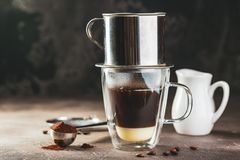 Coffee Dripping In Vietnamese Style Stock Image
