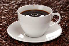 Coffee with drops Royalty Free Stock Photography