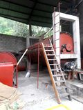 Coffee dryer machinery in the warehouse belonging to coffee cooperative. In the central Mexico including ladders and cement structures royalty free stock image