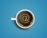 Coffee  and e-mail Stock Photo