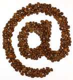 Coffee e-mail Stock Image