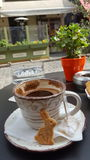 Coffee at easter holydays Stock Images