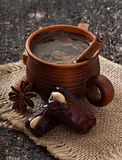 Coffee and eastern dates Royalty Free Stock Photos
