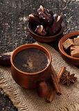 Coffee and eastern dates Royalty Free Stock Photography