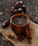 Coffee and eastern dates Stock Image