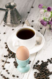 Coffee and egg Stock Photography