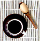 Coffee and eggs break Stock Images