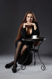 Coffee and elegance Stock Photos
