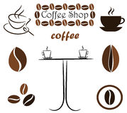 Coffee elements Royalty Free Stock Image