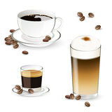 Coffee Elements Stock Photography