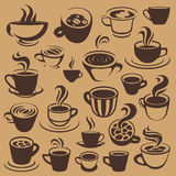 Coffee elements or logos Stock Images