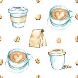 Coffee Elements , Watercolor Paint High Resolution Royalty Free Stock Images