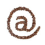 Coffee email symbol Royalty Free Stock Photos
