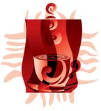 Coffee emblem Royalty Free Stock Image