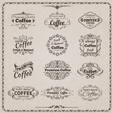 Coffee Emblem Set Royalty Free Stock Photos