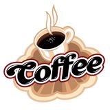 Coffee emblem Stock Images