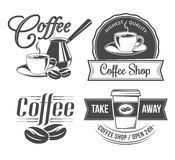 Coffee emblems Stock Images
